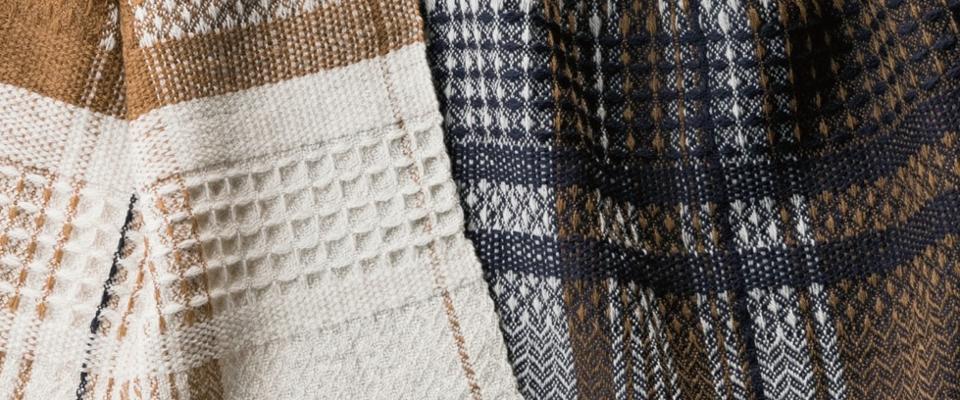 ウール かわり織りマフラー